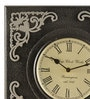 Grey & Black MDF 12 x 2 x 12 Inch Square Shaped Wall Clock by Marwar Stores