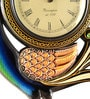 Multicolour MDF 12 x 2 x 12 Inch Peacock Shaped Wall Clock by Marwar Stores