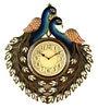 Marwar Stores Multicolour MDF 18 x 2 x 18 Inch Peacock Shaped Wall Clock