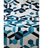 Lenox Blue Printed 1 Double Bed Sheet with 2 Pillow Covers by Maspar