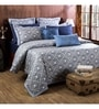 Blue 100% Cotton Queen Size Duvet Cover - Set of 3 by Maspar