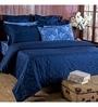 Blue 100% Cotton Queen Size Duvet Cover - Set of 3 by Maspar