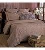 Brown 100% Cotton Queen Size Duvet Cover - Set of 3 by Maspar