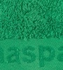 Green Cotton Embossed Hand Towel by Maspar