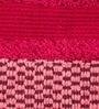 Optical Harmony Border Red Cotton Bath Towel by Maspar