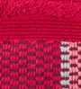 Optical Harmony Border Red Cotton Hand Towel by Maspar