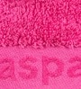 Pink Cotton Embossed Hand Towel by Maspar
