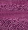 Purple Cotton Bath Towel by Maspar