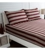 Red 100% Cotton King Size Bed Sheet - Set of 3 by Maspar
