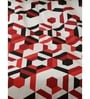 Inhouse By Maspar Lenox Red Printed 1 Double Bed Sheet With 2 Pillow Covers