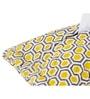 Maspar Yellow Cotton Abstract Pattern 15 x 8 Inch Tissue Holder