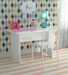 McCindy Cindrella Study Table With Two Chairs In Baby Pink Colour ...