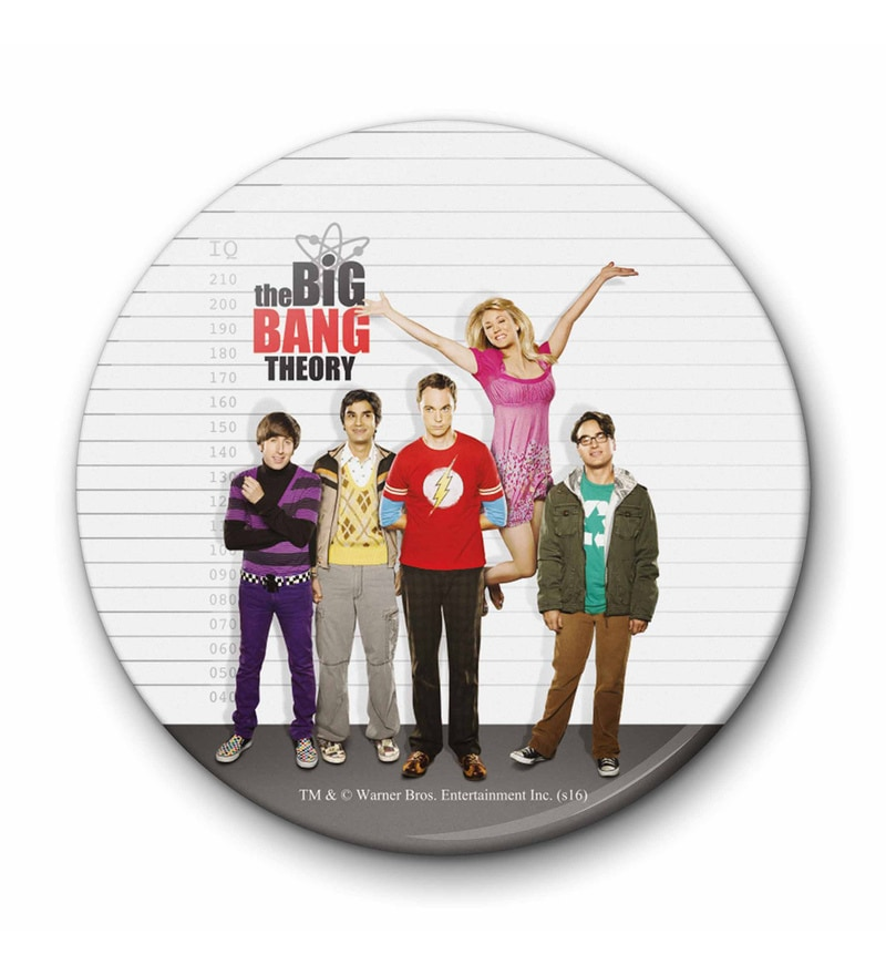 MC SID RAZZ Multicolour Iron Official The Big Bang Theory IQ Fridge Magnet Licensed by Warner Bros USA