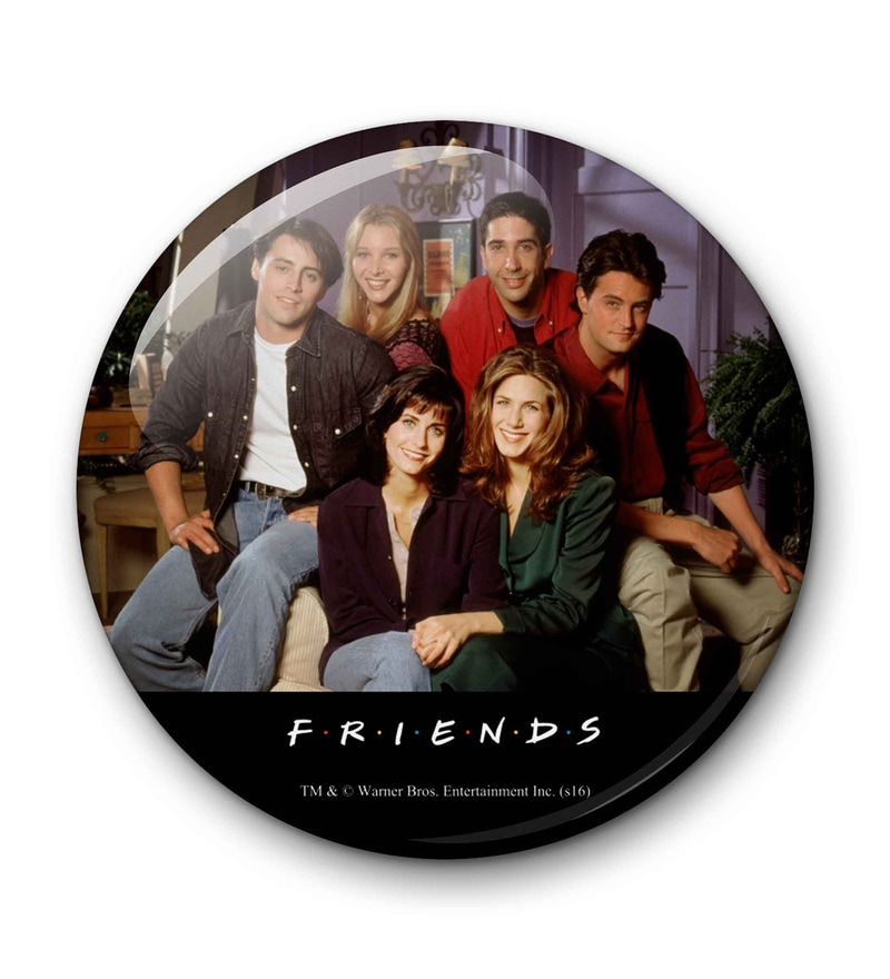 Multicolour Metal Official Friends At Home Fridge Magnet Licensed by Warner Bros USA by MC SID RAZZ