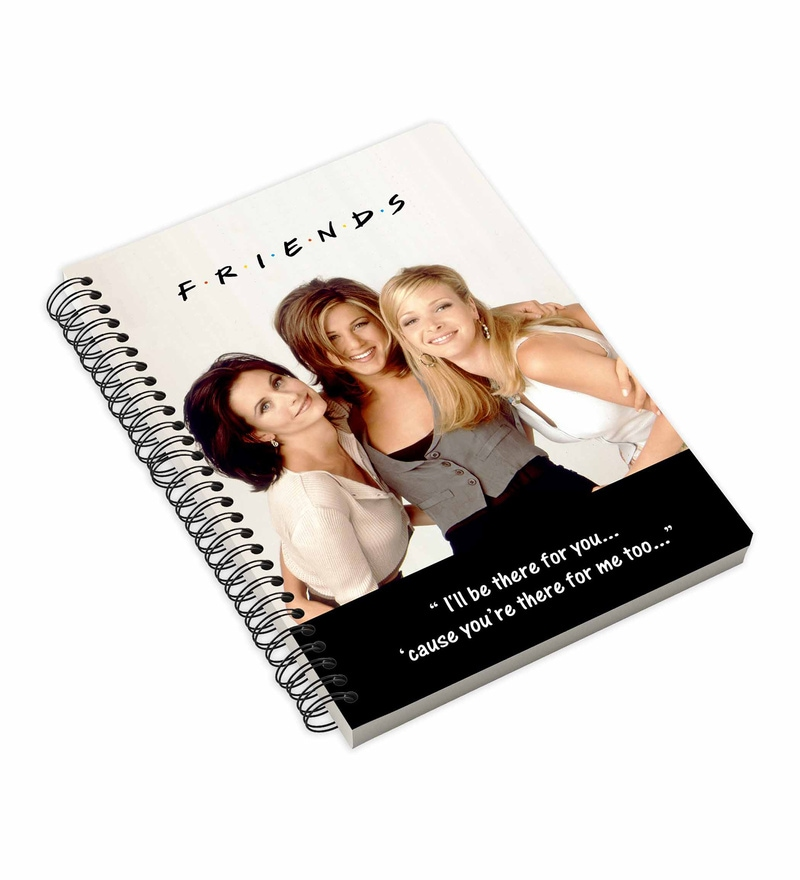 MC SID RAZZ Multicolour Paper Official Friends All The Girls Notebook Licensed by Warner Bros USA