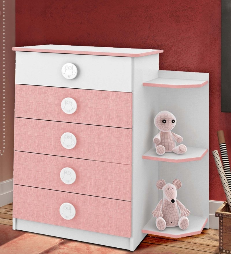 McPia Chest of Five Drawers in Rose Pink by Mollycoddle