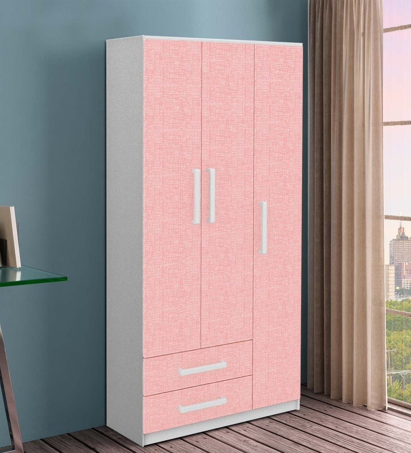 McPia Three Door Wardrobe in Rose Pink by Mollycoddle