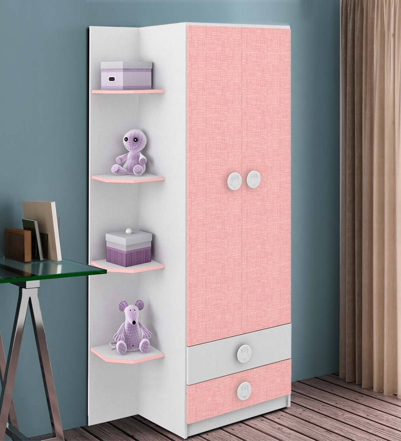 McPia Two Door Wardrobe in Rose Pink by Mollycoddle