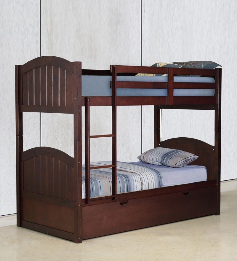 McXander Bunk Bed with Pull Out Bed in Wenge Finish by Mollycoddle