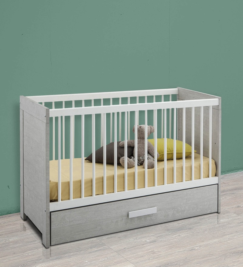 McZuriel Adjustable Height Baby Crib Bed in Bristol Oak Finish by Mollycoddle