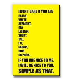 MDF If You Are Nice To Me I Will Be Nice To You Fridge Magnet