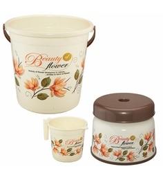 Meded Siti Plast Bathroom Set Bucket 22 Liters, Mug 1.5 Liters, Stool 9