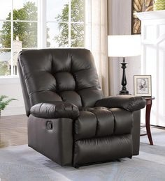 Mendoza One Seater Manual Recliner In Brown Colour