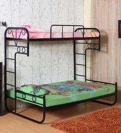 Metallic Bunk Bed In Black Colour