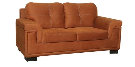 2 Seater Sofa In Burnt Orange Colour