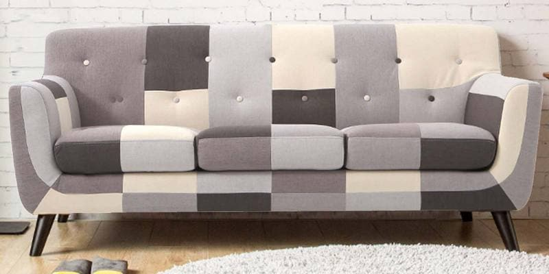 Medellin Three Seater Sofa in Grey Multi Colour by CasaCraft