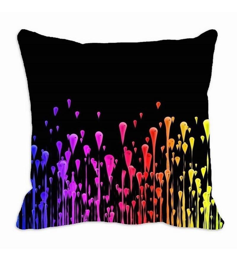 Black Satin 16 x 16 Inch Cushion Cover by Me Sleep