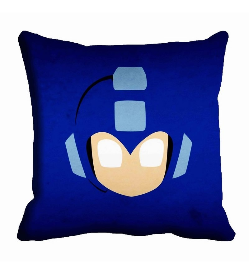 Blue Satin 16 x 16 Inch Cushion Cover by Me Sleep