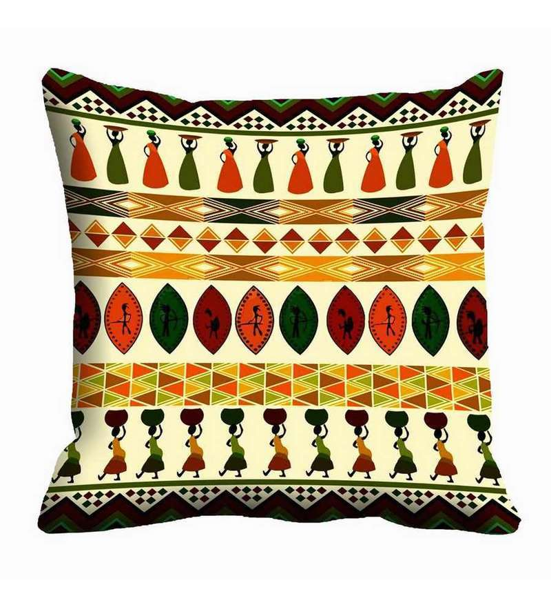 Multicolor Satin 16 x 16 Inch Cushion Cover by Me Sleep
