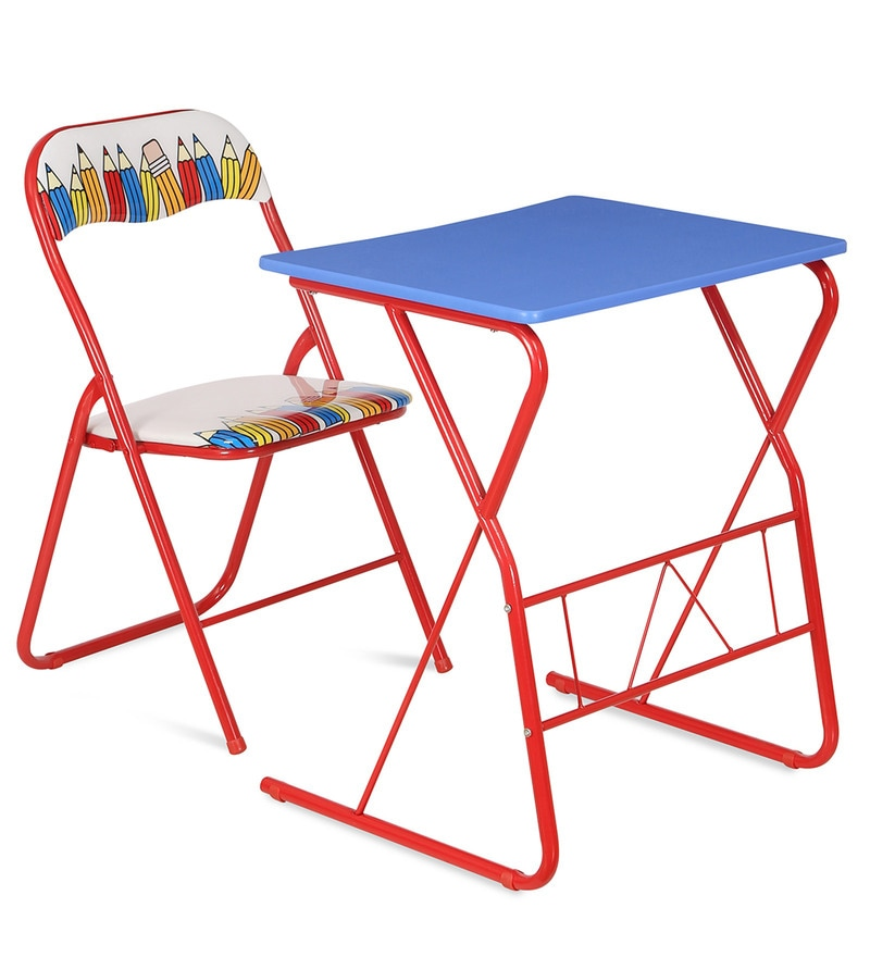 Memo Computer Table & Chair Set in Multicolor by @home