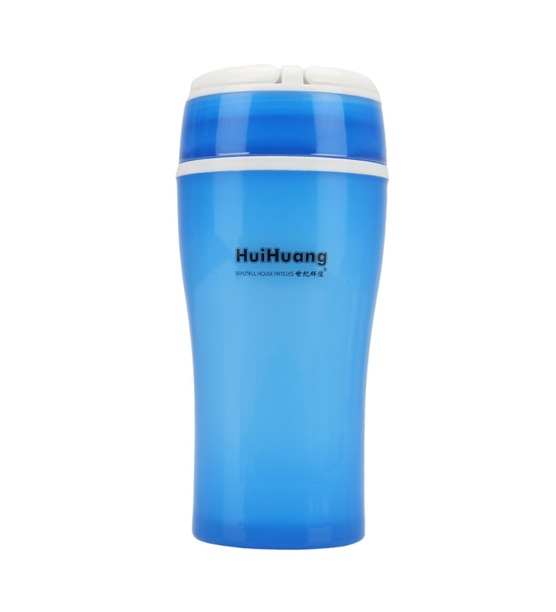 Merahomestore Huihuang Medium Blue Plastic 350 ML Flask