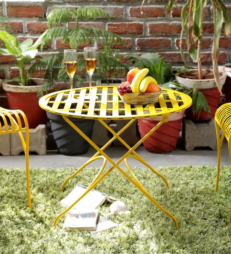 Lisheen Table in Yellow Color by Bohemiana