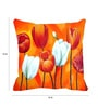 Orange Satin 16 x 16 Inch Cushion Cover by Me Sleep