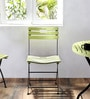 Mexico Folding Chair in Green Colour by Woodsworth