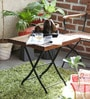 Mexico Folding Table in Provincial Teak Finish by Bohemiana
