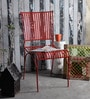 Lisheen Outdoor Iron Chair in Red Color by Bohemiana