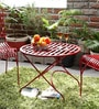 Lisheen Outdoor Iron Table in Red Color by Bohemiana