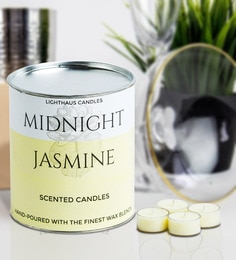 Midnight Jasmine Richly Scented Premium Tealight Candles - Set Of 30