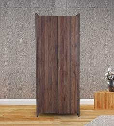 Milan Two Door Wardrobe in Walnut Finish & 2 Door Wardrobe Online: Buy Two Door Wardrobes at Best Prices ...