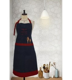 Milano Home Red 100% Cotton Happiness Is Homemade Apron With Adjustable Neck & Pocket