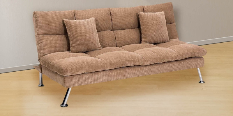 Milan Sofa cum Bed in Brown Colour by Royal Oak