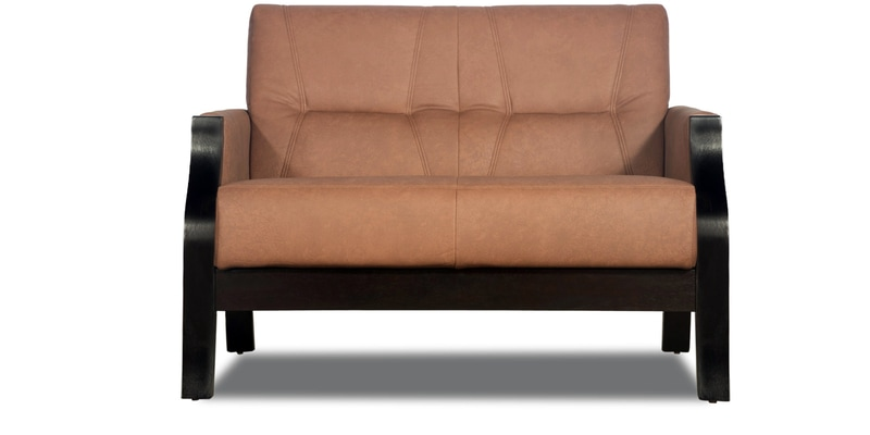 Buy Milos Two Seater Sofa In Cappucino Finish By Godrej Interio Online Two Seater Sofas