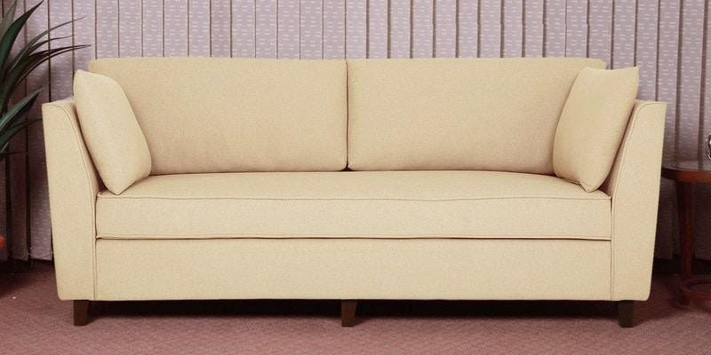 Miranda Three Seater Sofa in Beige Colour by CasaCraft