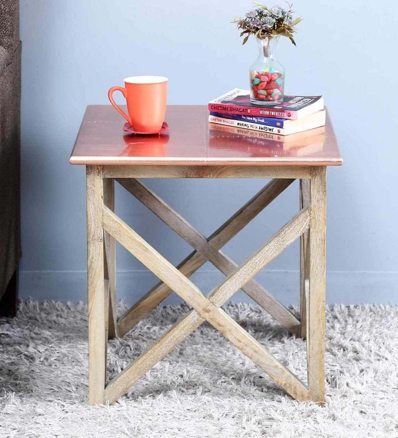 Mick End Table in Copper Finish by Bohemiana