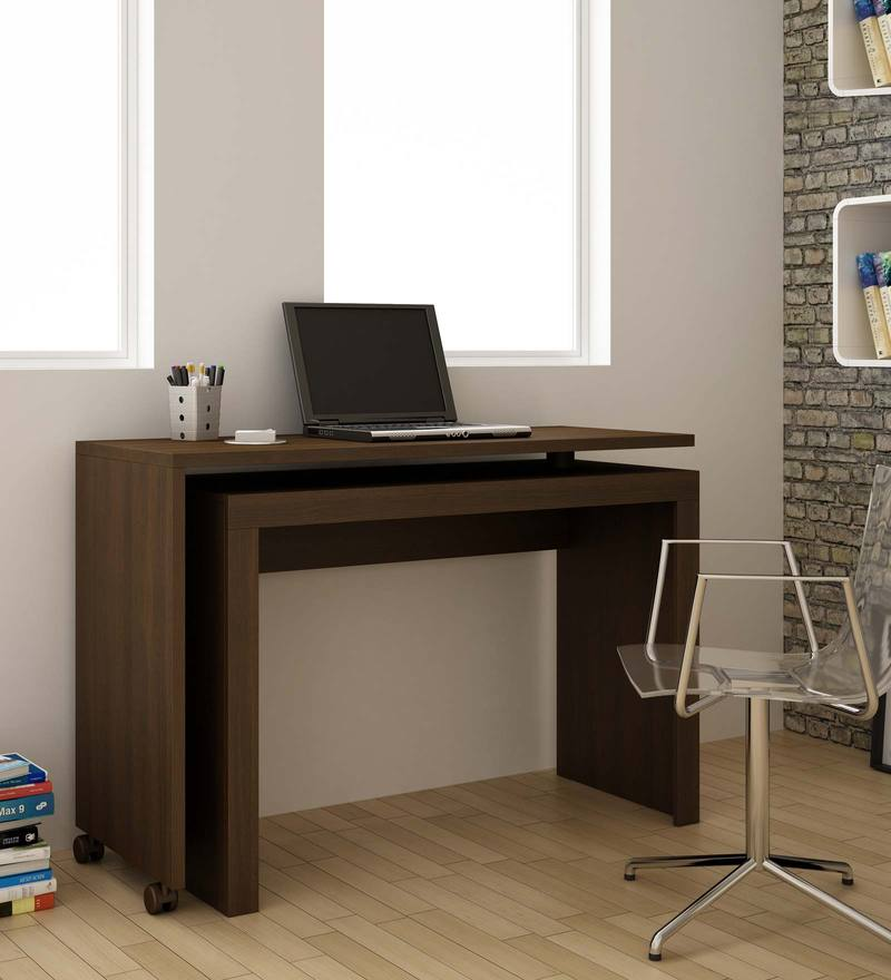 Midori Study Table in Tobacco Finish by Mintwud