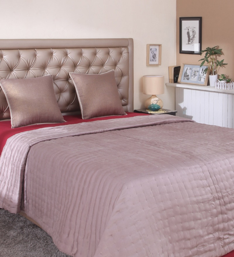 Brown Silk Queen Size Comforter by Milano Home